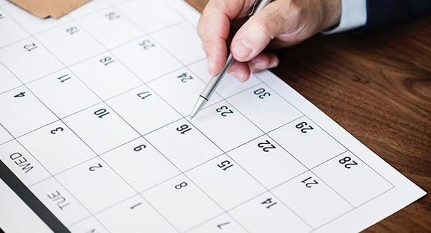 Befristung im Kalender